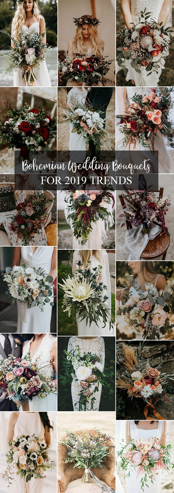 trending bohemian wedding bouquets for 2019