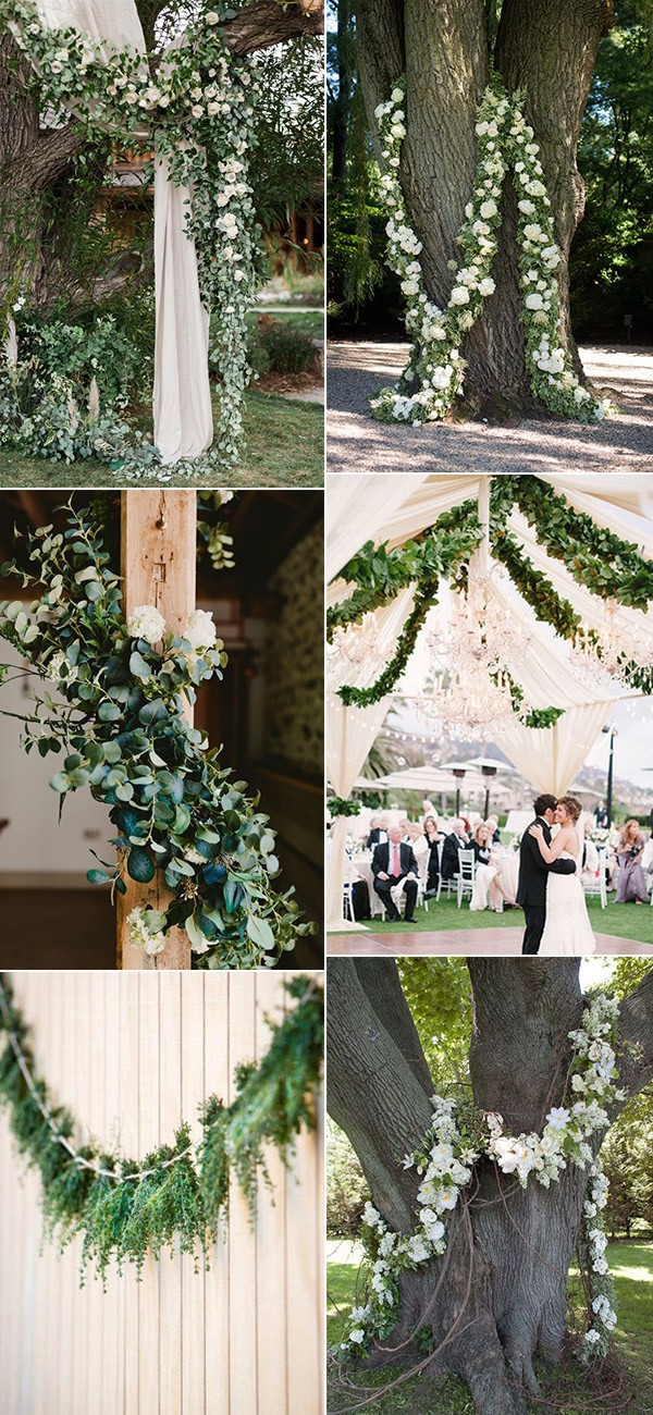 trending wedding decoration ideas with garlands