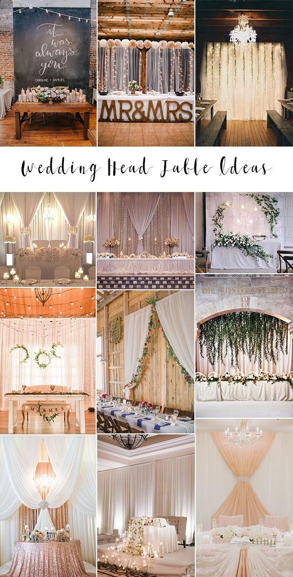 trending wedding head table backdrop decoration ideas