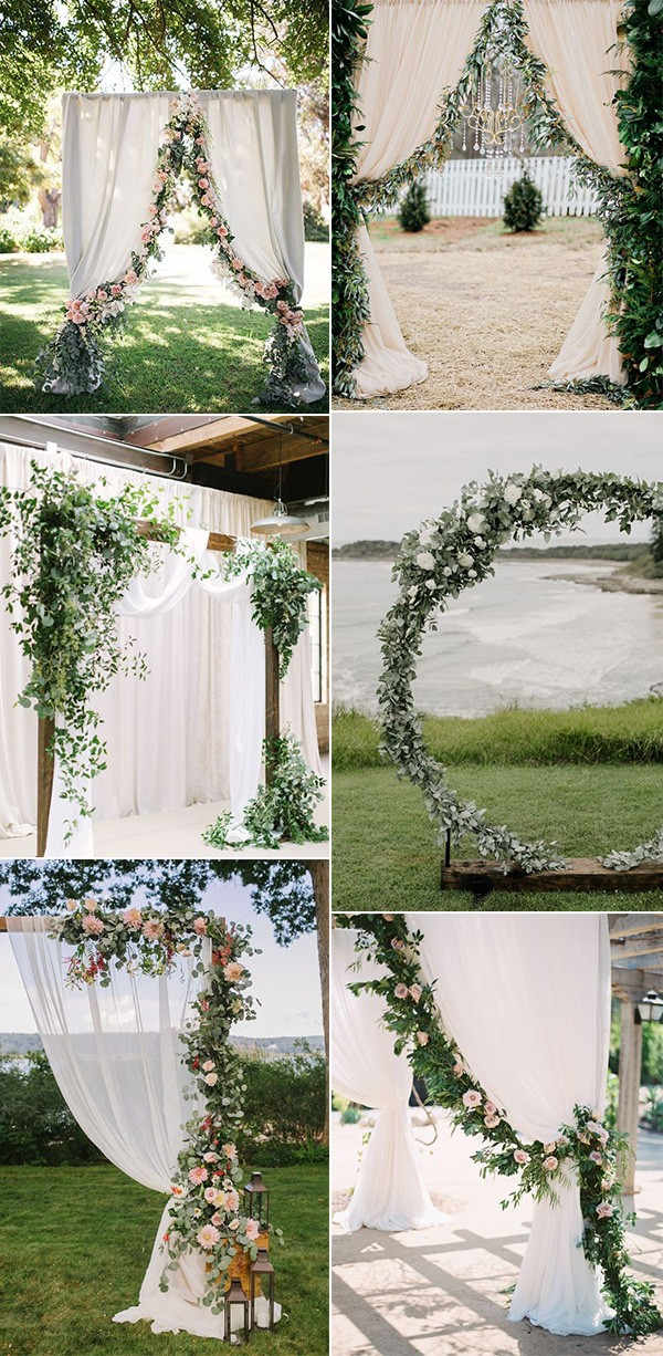 wedding arch decoration ideas with garlands for 2019 trends