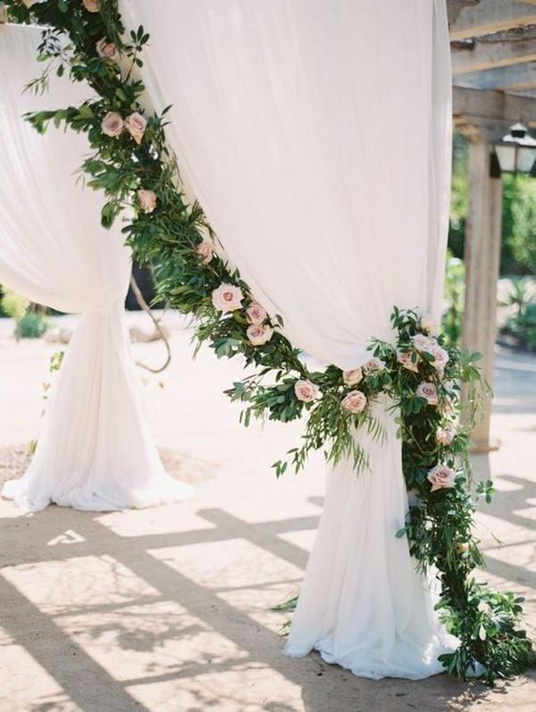 wedding arch decoration ideas with garlands