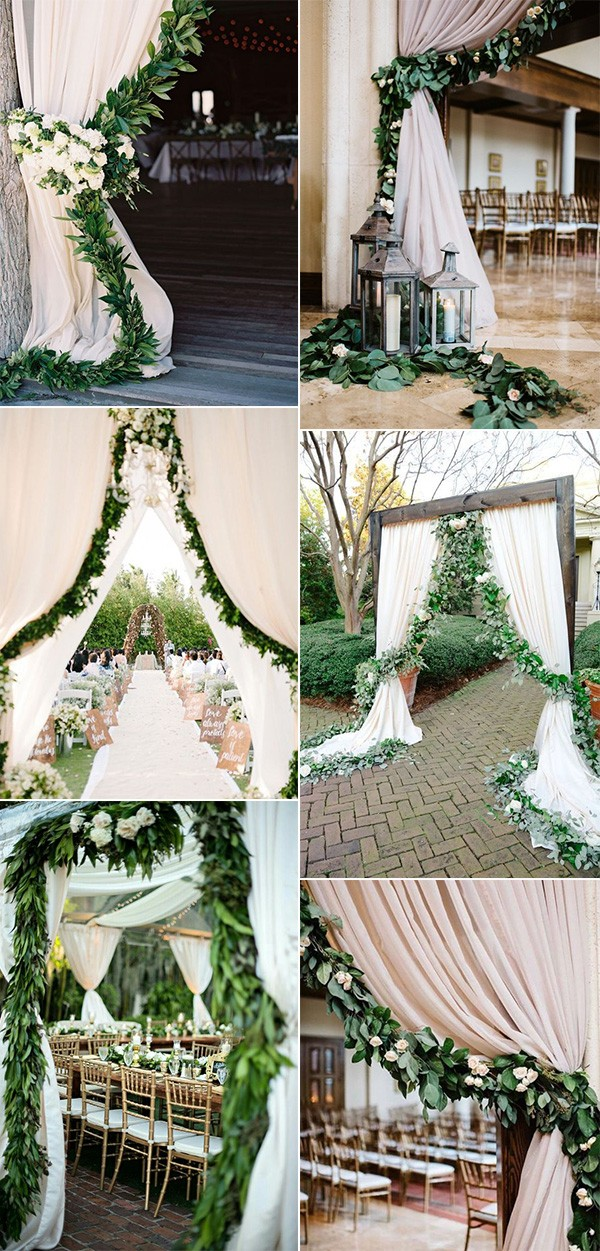 wedding entrance decoration ideas with garlands for 2019 trends
