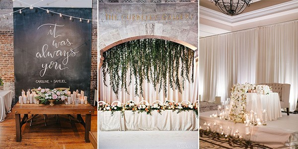 18 Amazing Wedding Head Table Backdrop Decoration Ideas