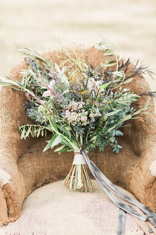 wild flowers bohemian wedding bouquet