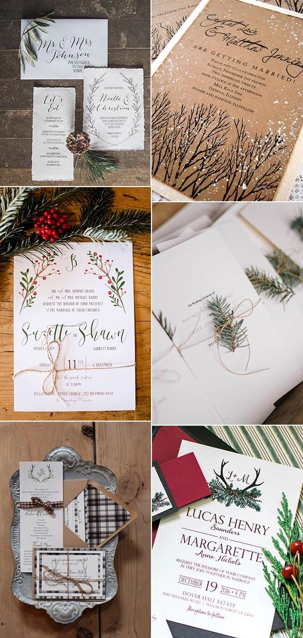 winter wonderland wedding invitations