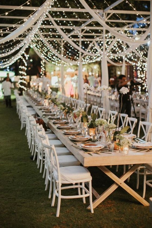 Bali wedding reception ideas with fairy lights