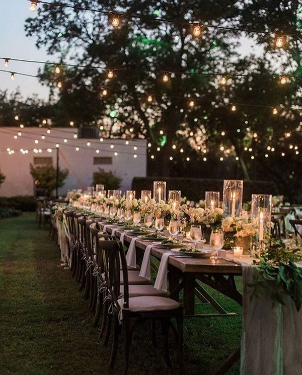 backyard wedding reception ideas with lights