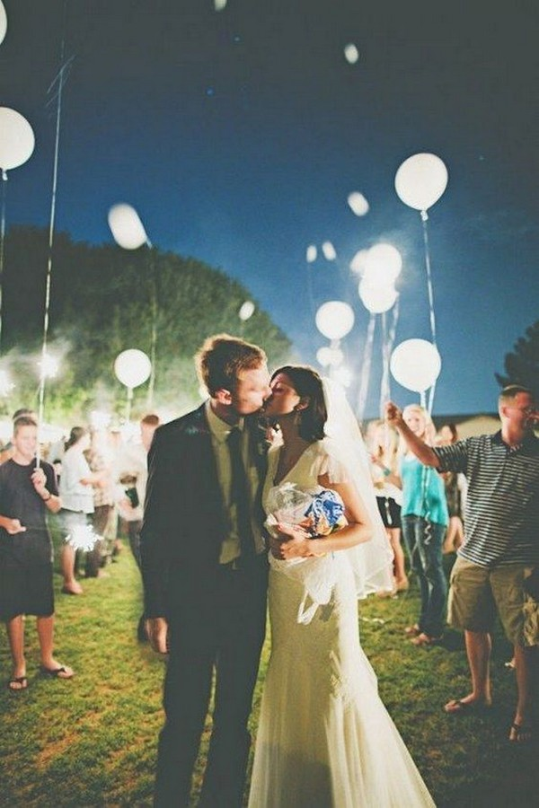 balloons night wedding send off ideas