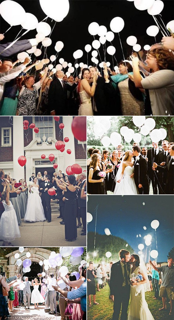 balloons wedding send off ideas for 2019