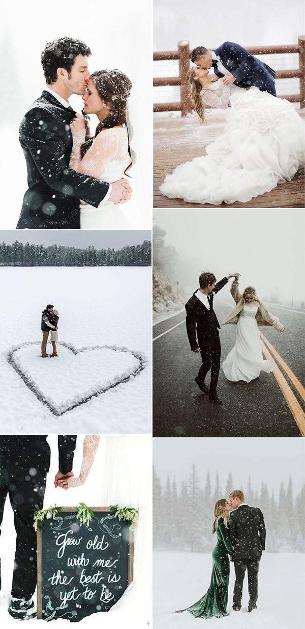 breathtaking winter wedding photo ideas