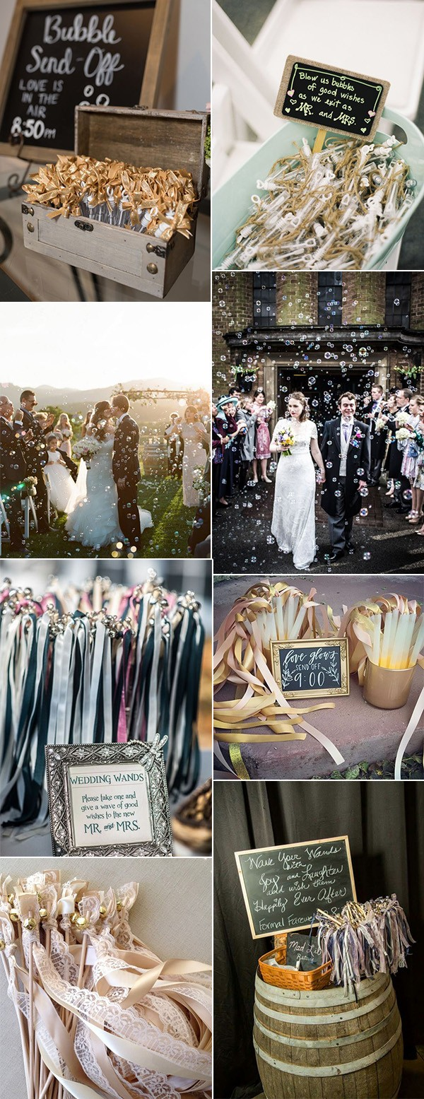 bubbles and ribbons wedding send off ideas
