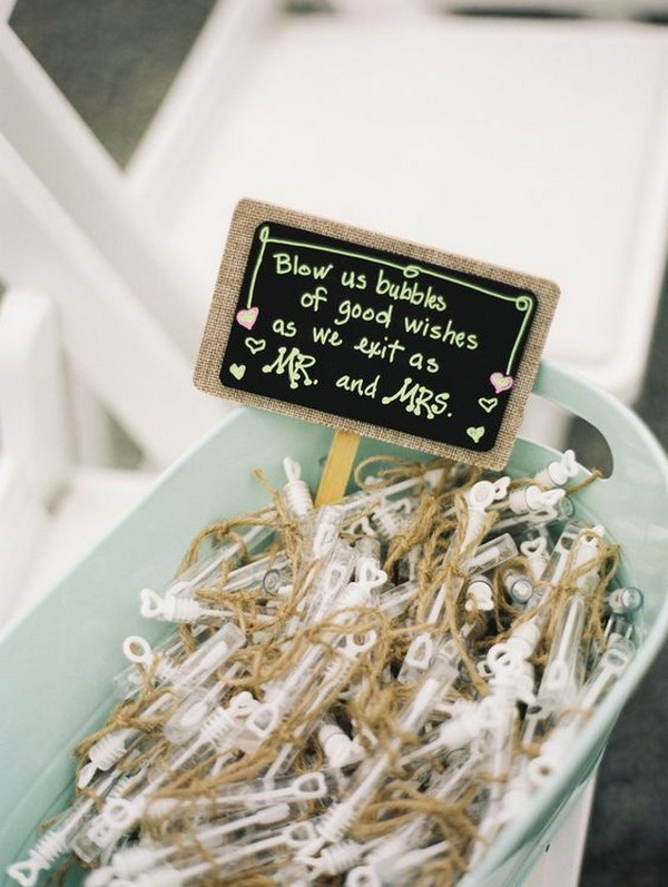 bubbles wedding send off sign