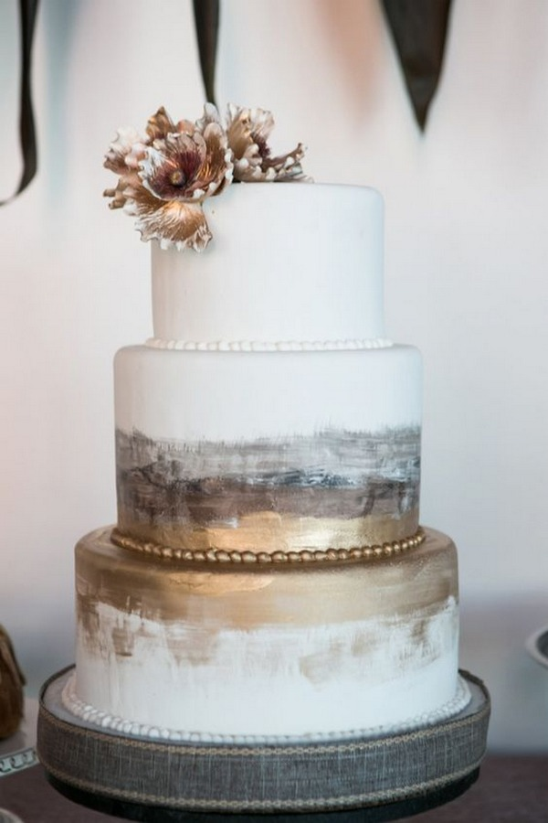 chic industrial wedding cake ideas