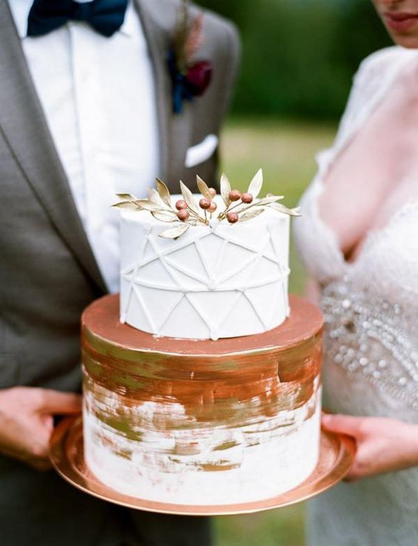 copper wedding cake ideas