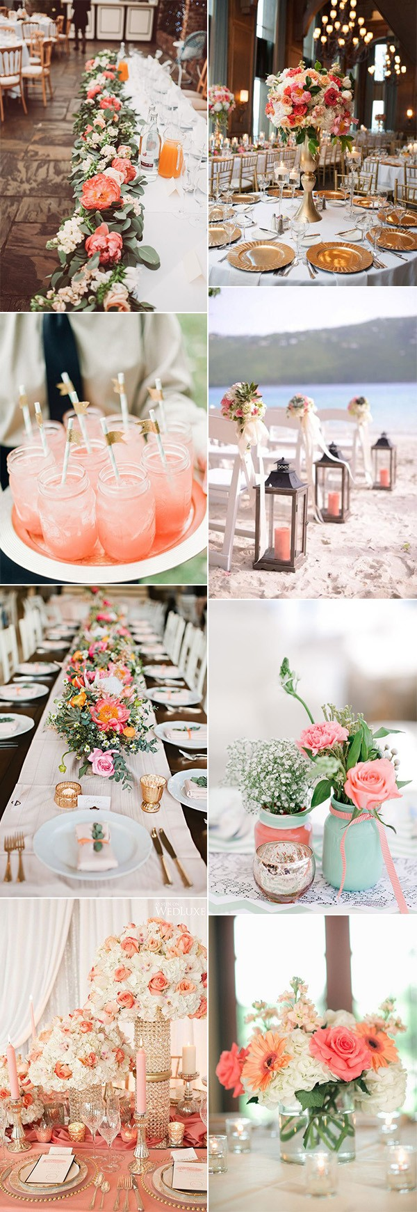 coral wedding decoration ideas for 2019 trends