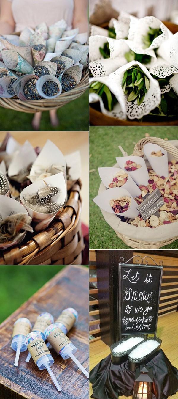 creative confetti wedding send off ideas