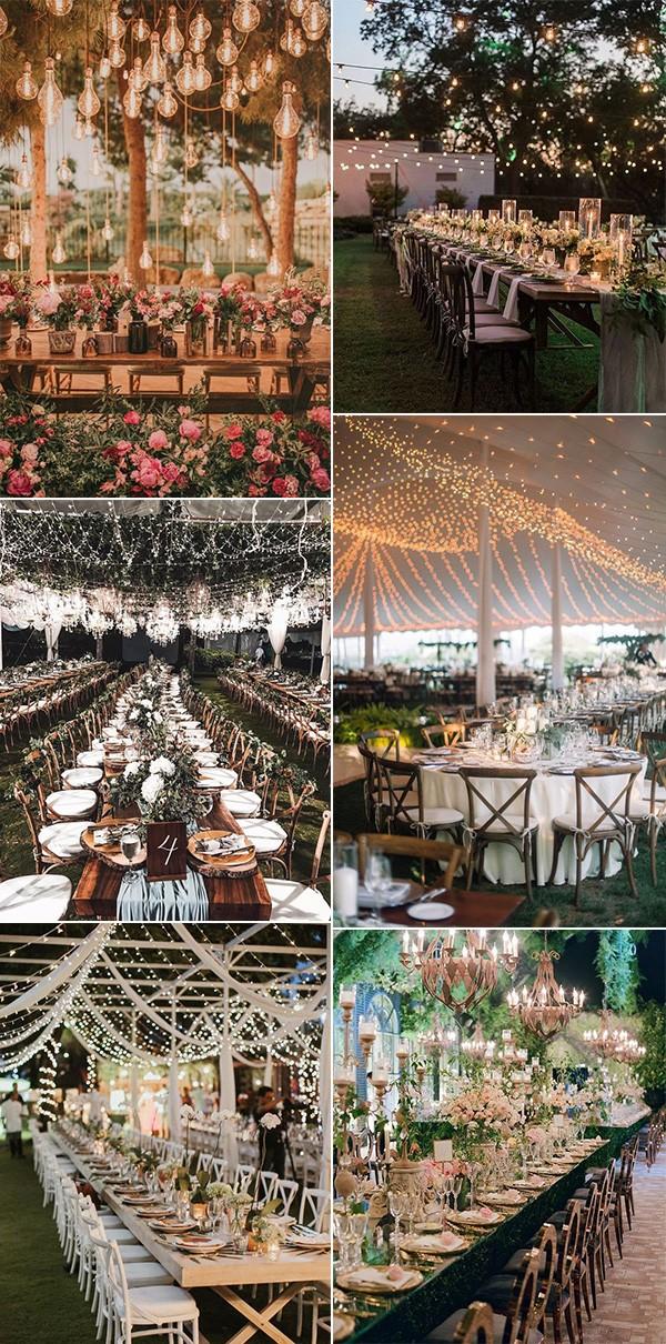 fairy wedding reception lighting ideas