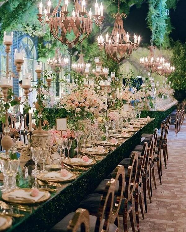 Fairytale Wedding Reception Decoration Ideas