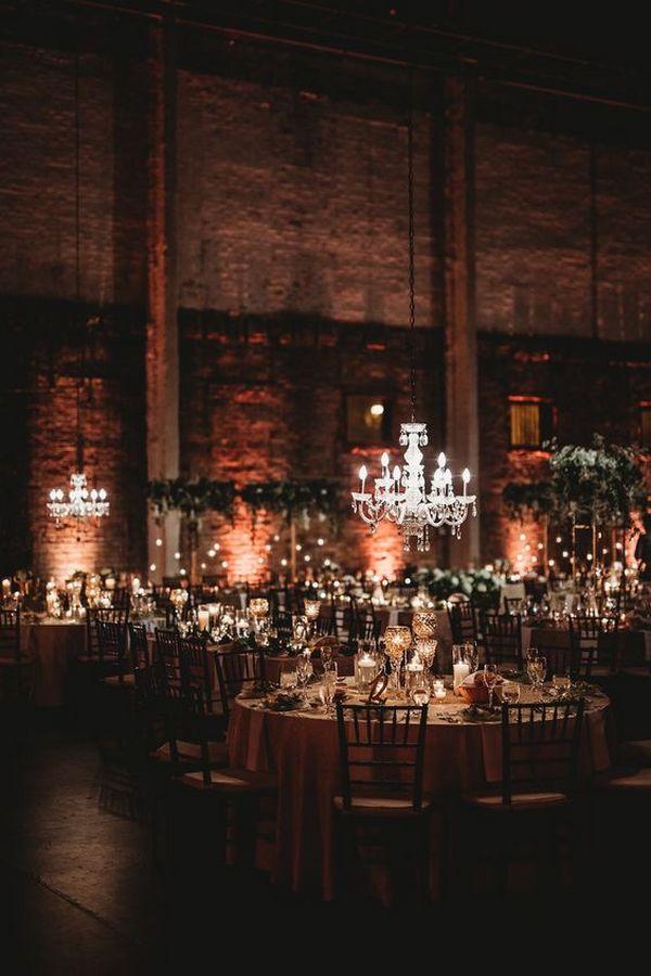 gorgeous industrial wedding reception ideas