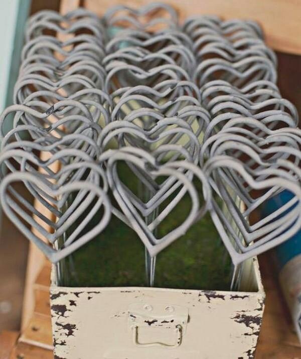 heart shaped sparkler wedding send off