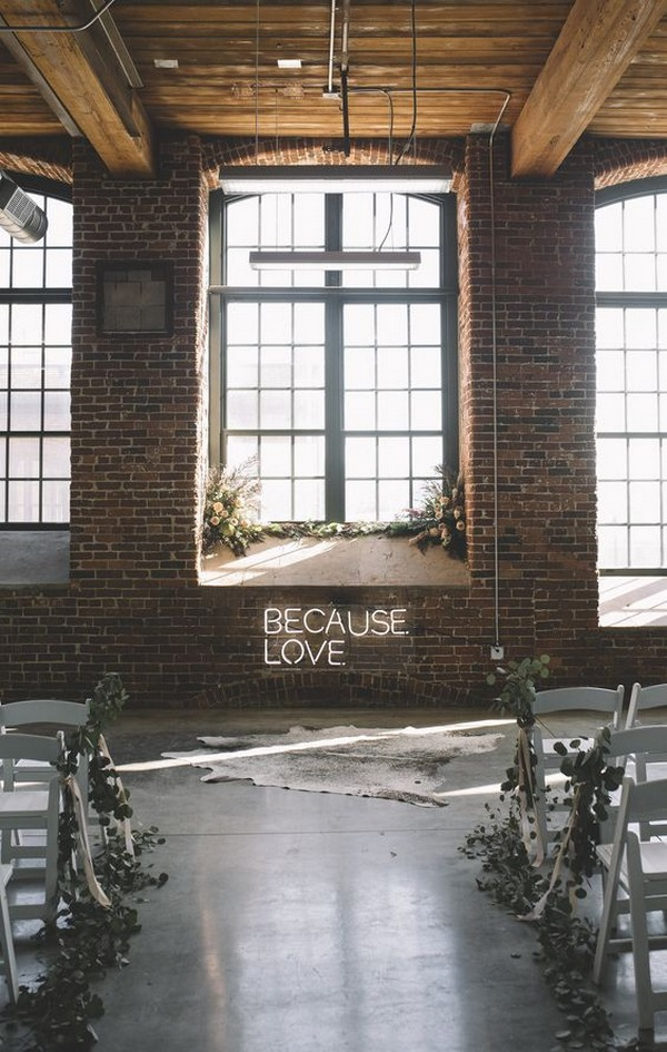 industrial boho chic wedding ceremony ideas