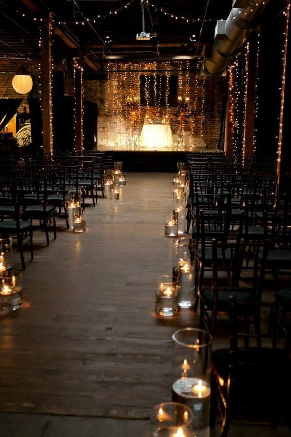 industrial wedding ceremony decoration ideas