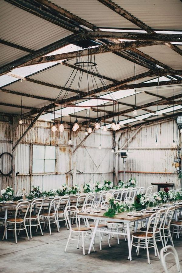 industrial wedding reception decoration ideas