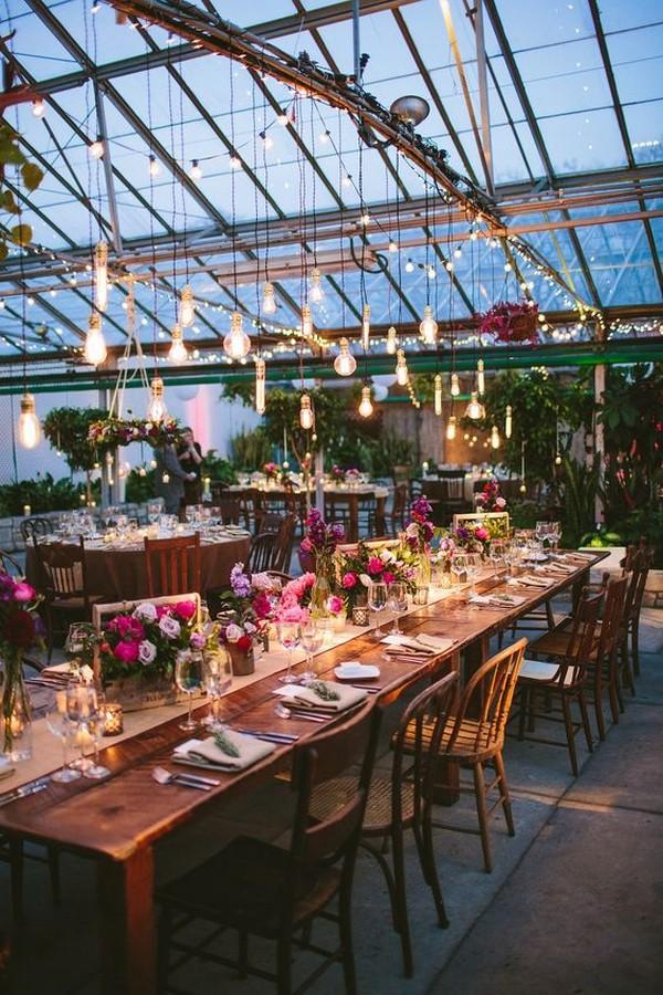 industrial wedding reception lighting ideas