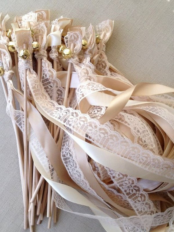 lace ribbon wedding send off ideas