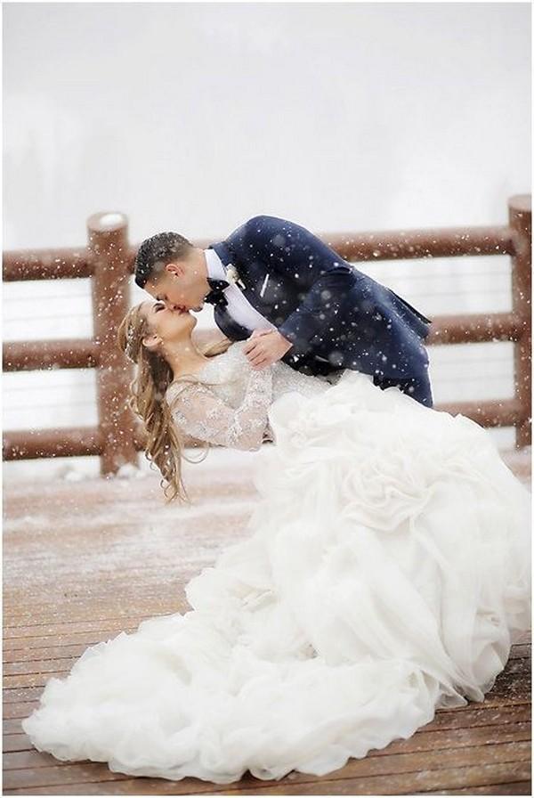 magical winter wedding photo