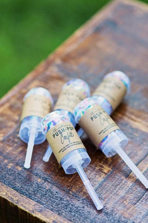 push pop confetti wedding send off