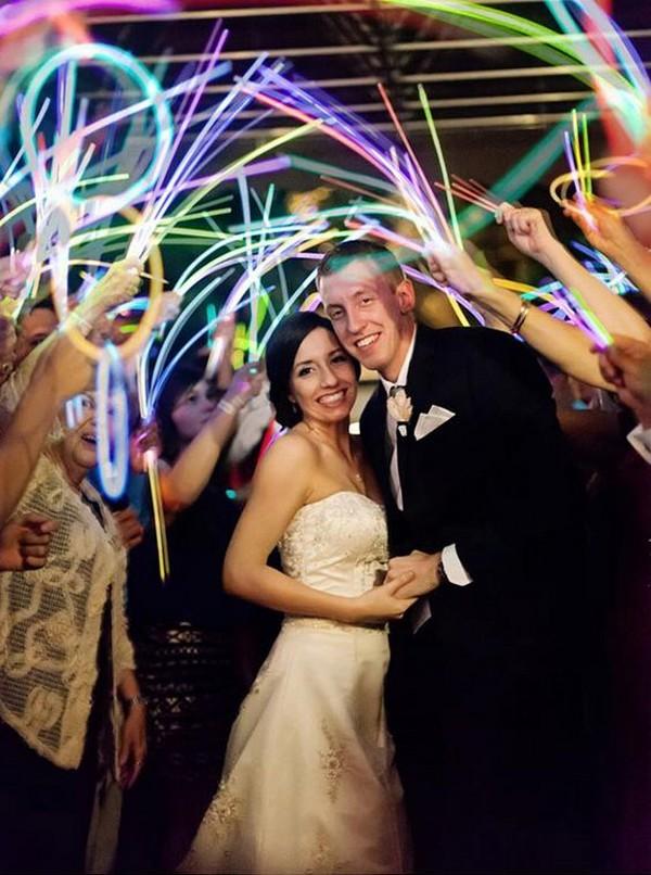 rainbow glow sticks wedding send off 2