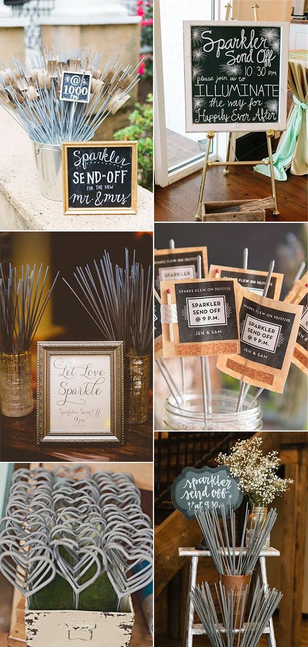 romantic sparklers wedding send off ideas 2