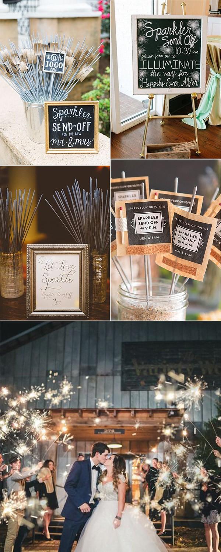 romantic sparklers wedding send off ideas