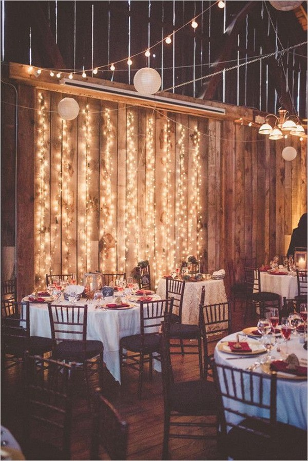 romantic wedding reception light ideas