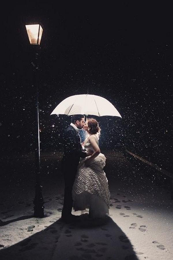 romantic winter wedding photo ideas