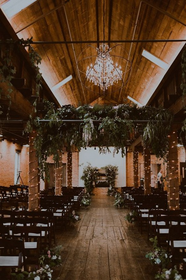 rustic industrial wedding ceremony decoration ideas