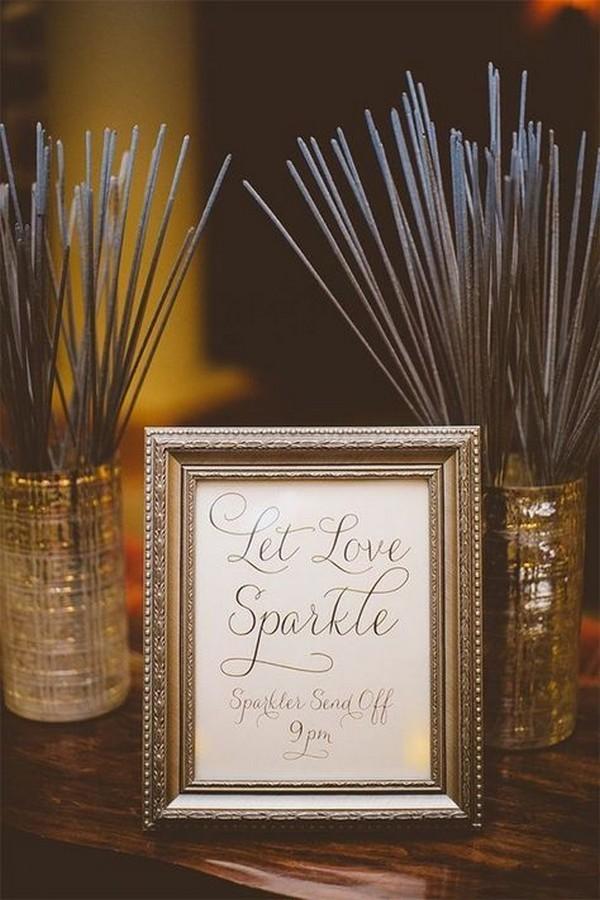 sparklers wedding send off ideas