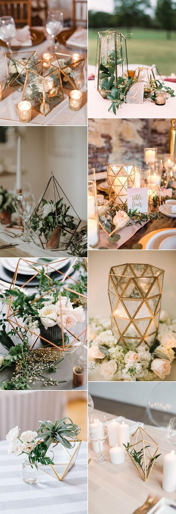 stunning geometric wedding centerpiece ideas for 2019 trends
