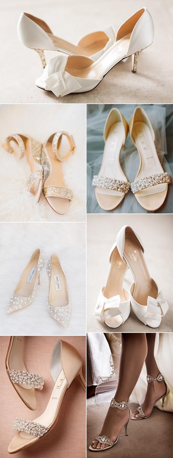 trending elegant low heel comfortable wedding shoes