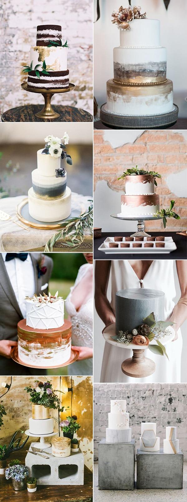 trending industrial wedding cake ideas