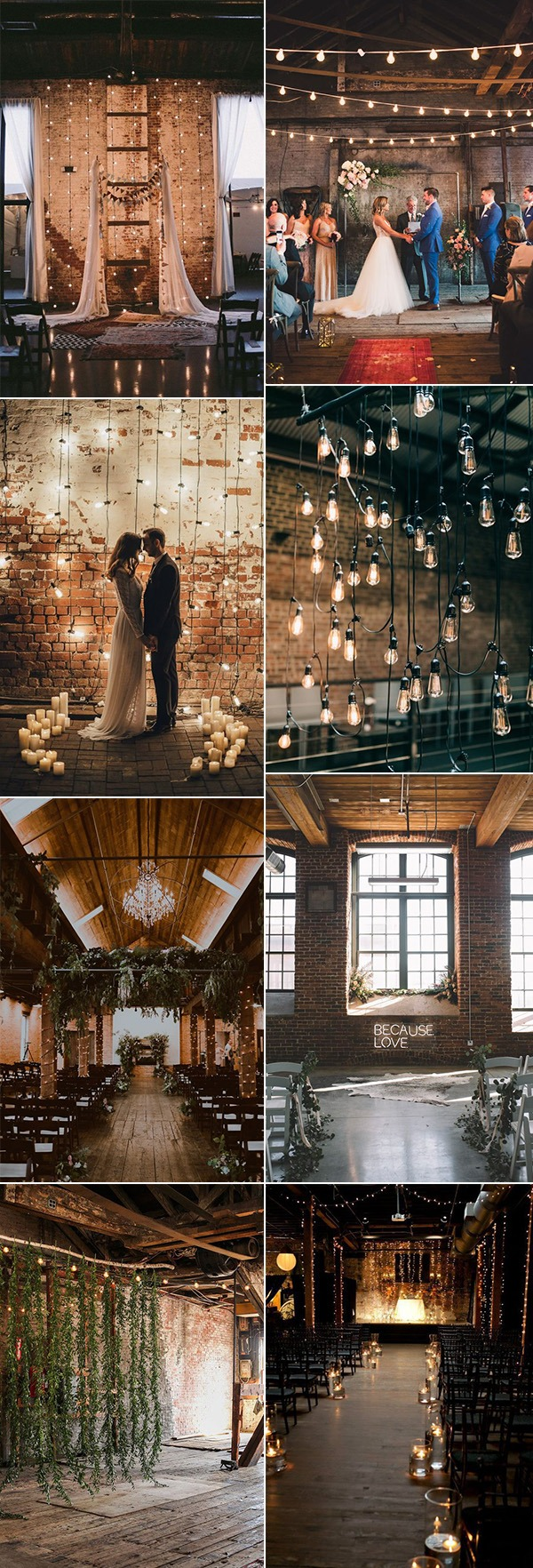 trending industrial wedding decoration ideas