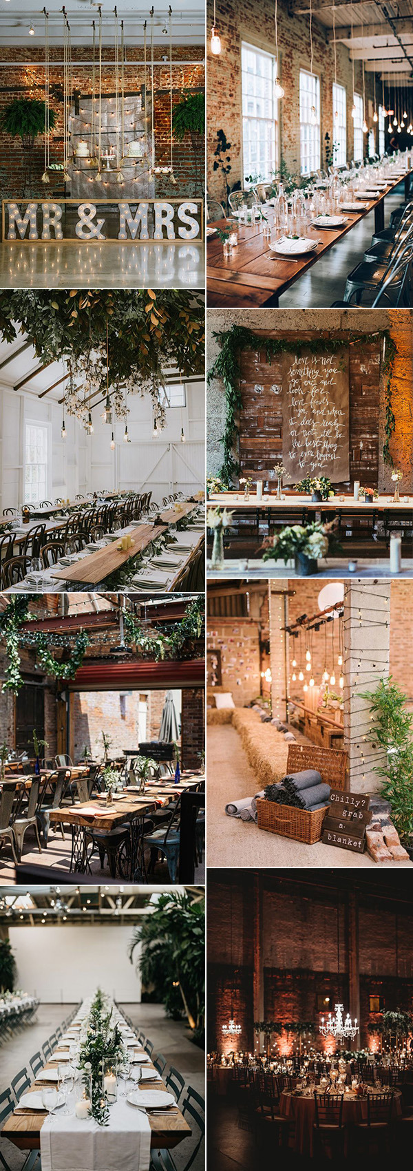 trending industrial wedding reception ideas