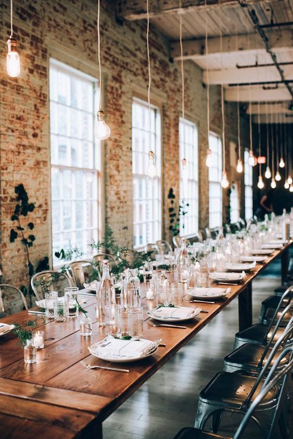 trending industrial wedding reception
