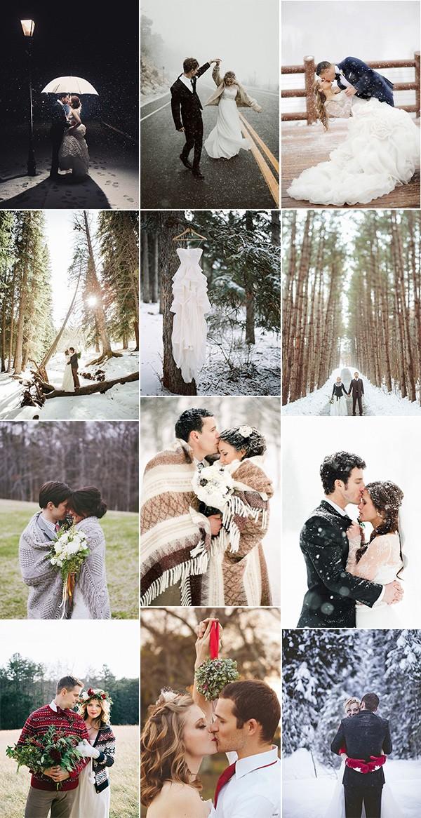 trending romantic winter wedding photo ideas