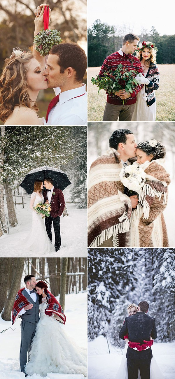 trending romantic winter wedding photos