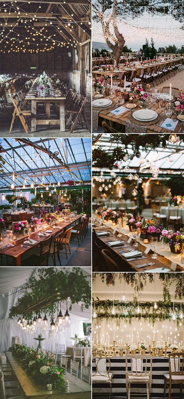 trending wedding reception lighting ideas