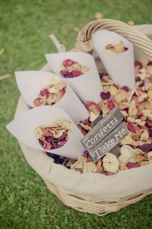 vintage confetti wedding send off