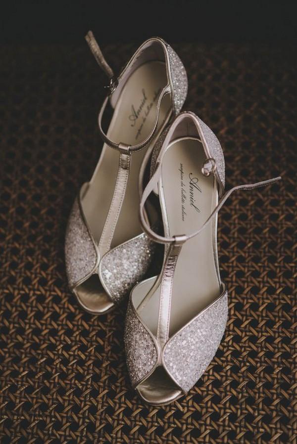 vintage low heel comfortable wedding shoes