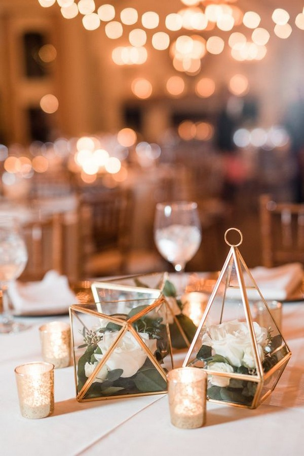 Trending 20 Industrial Geometric Wedding Centerpieces